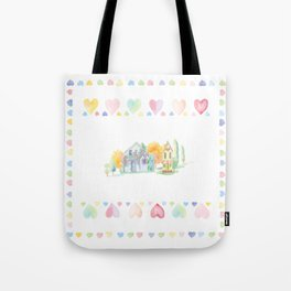 Little Houses: Staying Home Tote Bag