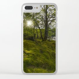 Morning River Sun Clear iPhone Case