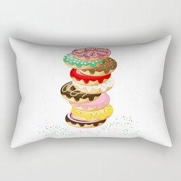 Stack of Donuts Rectangular Pillow