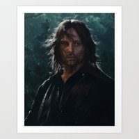 gondor Art Prints featuring King of Gondor and Arnor by hart-coco