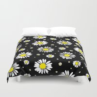 daisies Duvet Covers featuring Daisies by Ornaart