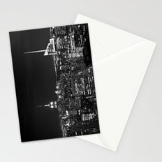 Manhattan skyline black and white Stationery Cards