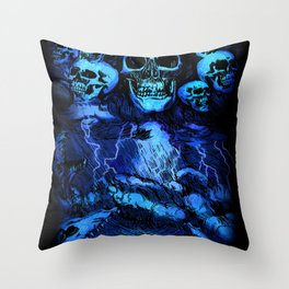 SKULLSTORM Throw Pillow