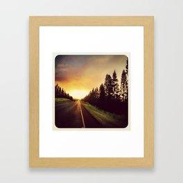 chasing the sun Framed Art Print