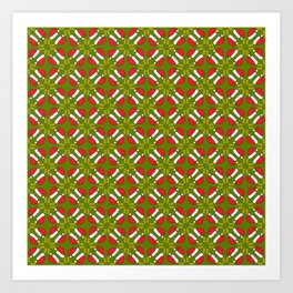 New year 2016 pattern in green Art Print