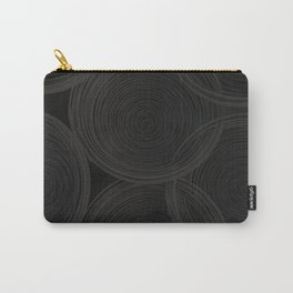 Black spiraled coils Carry-All Pouch