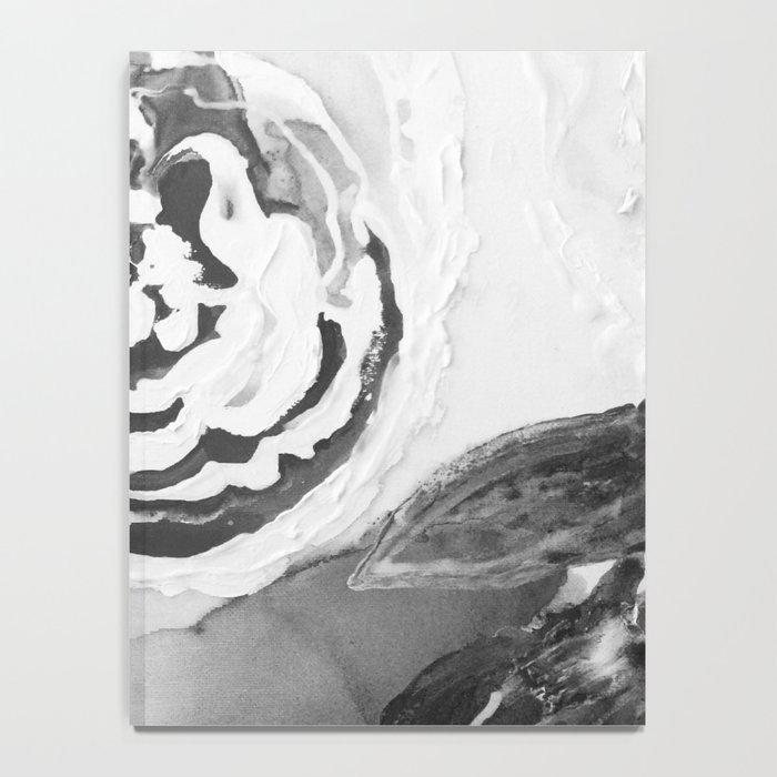 Mother's Day Roses Silver Year Black and White Notebook