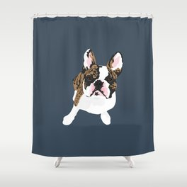 Frankie the Frenchie Shower Curtain