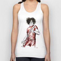 jack white Tank Tops featuring Jack White Red Watercolor by Tom Brodie-Browne
