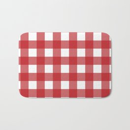 Buffalo Plaid in Red Bath Mat