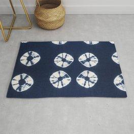 Indigo Blue Tie Dye Fantasy Rug
