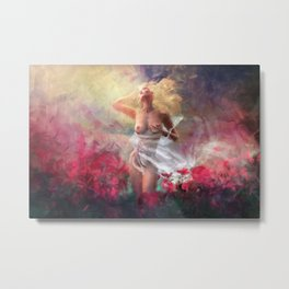 The First Touch Metal Print