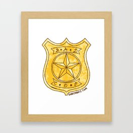 Bad Cop Framed Art Print