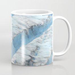 Don't Fall! Alaskan Glacier's Dangerous Blue Ice Crevasses Coffee Mug
