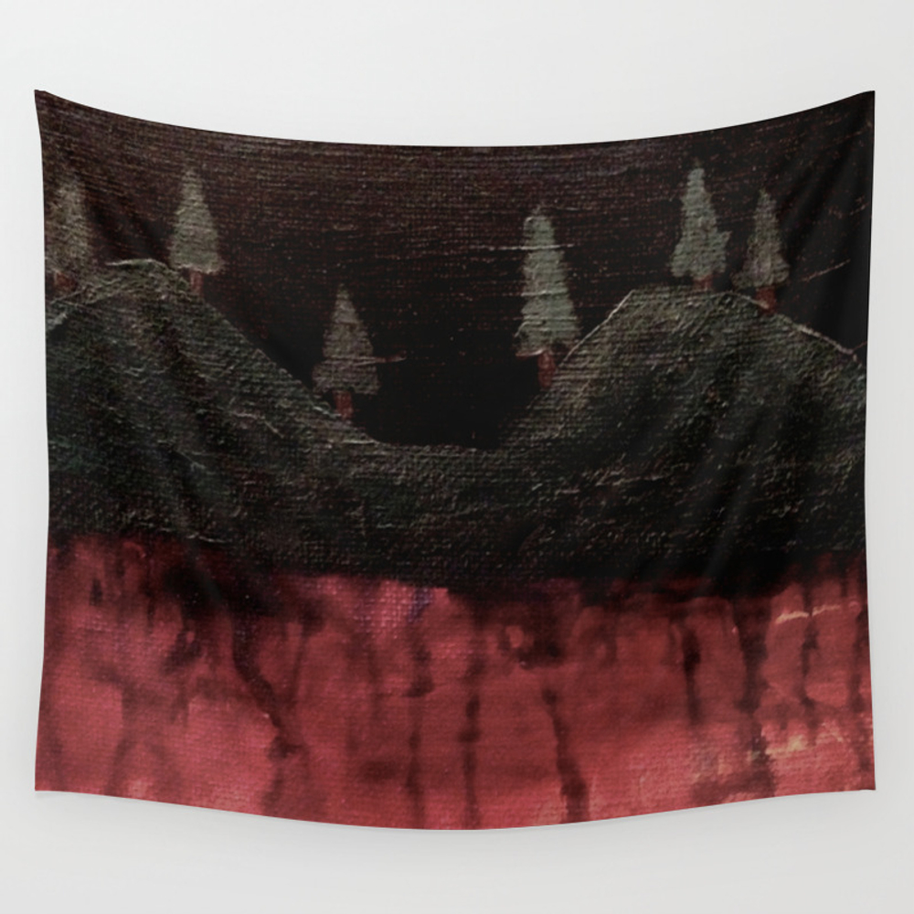 Beneath The Hills Wall Hanging by Meganemerwhite TPS3572760