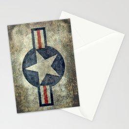 USAF vintage retro style roundel Stationery Cards