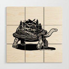 World Tortoise Wood Wall Art