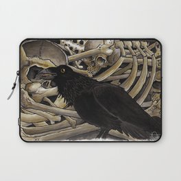 Bird and Bones Watercolour Laptop Sleeve