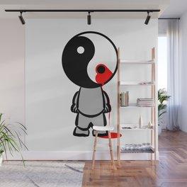 Yin Yang Heart Wall Mural