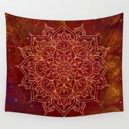 Rust Red Mandala Wall Tapestry