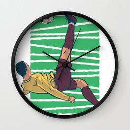 bicycle kick Football Wall Clock