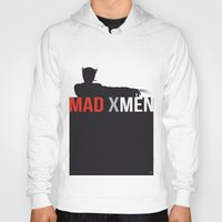 x men Hoodies featuring MAD X MEN by Alain Bossuyt
