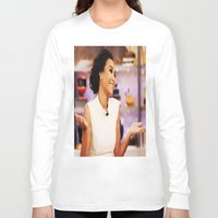 glee Long Sleeve T-shirts featuring Naya Rivera by Raquel S