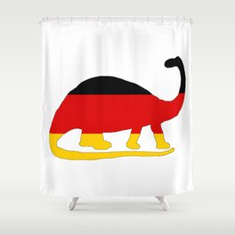 German Flag - Brontosaurus Shower Curtain