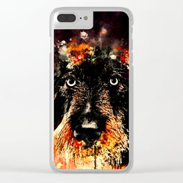 wire haired dachshund dog ws Clear iPhone Case