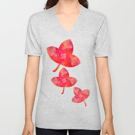 Fluid Abstract 28 Unisex V-Neck