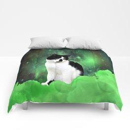 Gypsy Da Fleuky Cat and the Kitty Emerald Night Comforters