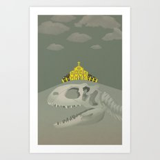 Rex, the King of Dinosaur Art Print