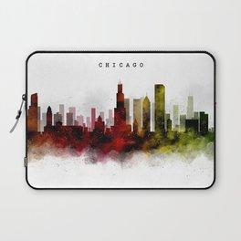 Chicago Watercolor Skyline Laptop Sleeve