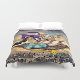 Aladdin and Jasmine Duvet Cover