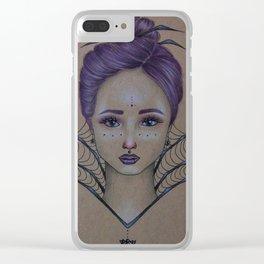 Spider Queen Clear iPhone Case