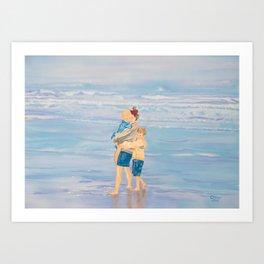 Clam Beach Art Print
