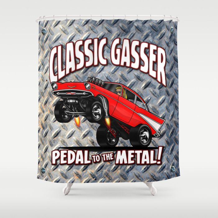 1957 Classic Chevy Gasser Shower Curtain