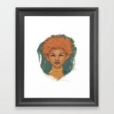 The brave love Framed Art Print