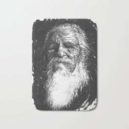 Bearded Man Bath Mat
