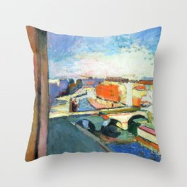 Henri Matisse Pont Saint Michel Throw Pillow