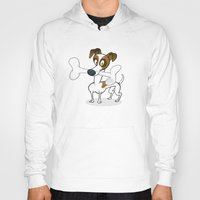 jack russell Hoodies featuring Jack Russell by drawgood