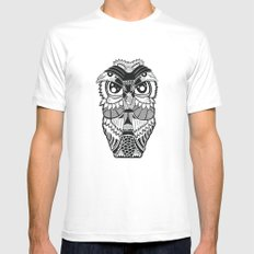 Wise Owl White MEDIUM Mens Fitted Tee