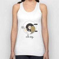 okay Tank Tops featuring Okay. by Zharaoh