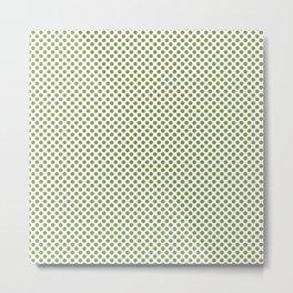 Peridot Polka Dots Metal Print
