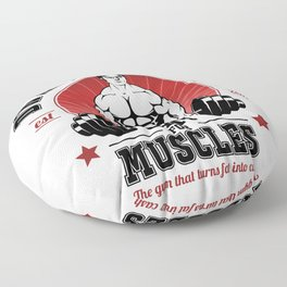 Schrute's Gym For Muscles Floor Pillow