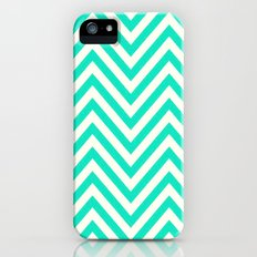 Turquoise Chevron iPhone (5, 5s) Slim Case