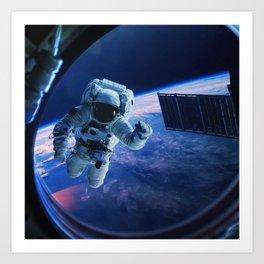 Astronaut in orbit Art Print