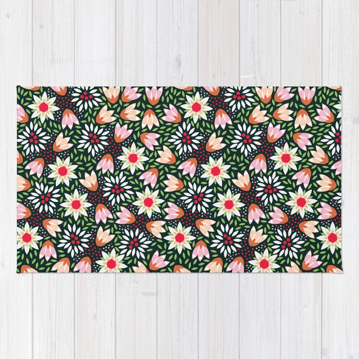 Bed of flowers rug by kiraseiler society6 for Bed tech 3000