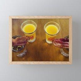 Breakfast Shots Framed Mini Art Print