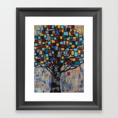 :: Stained Glass Tree :: Framed Art Print